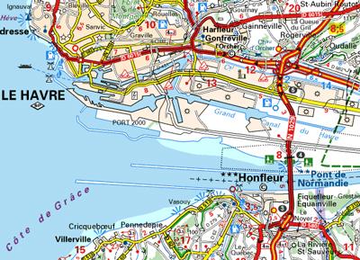 pont de normandie carte Accès et traversée du Pont de Normandie à vélo