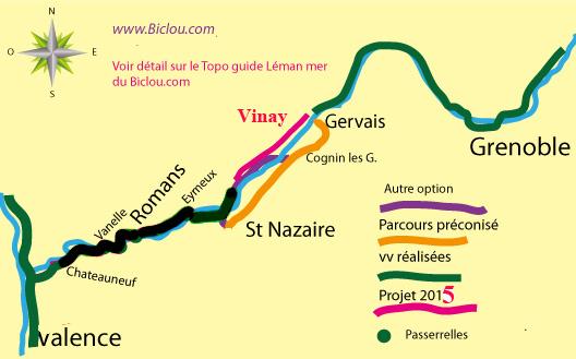 Piste cyclable via Prealpina entre Grenoble et Valence